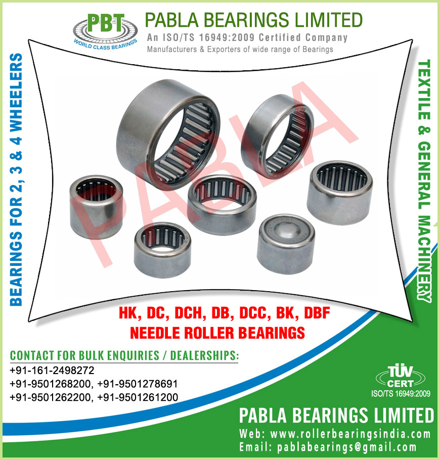 automobile needle roller bearings manufacturers exporters sellers supplies in India Punjab Ludhiana
