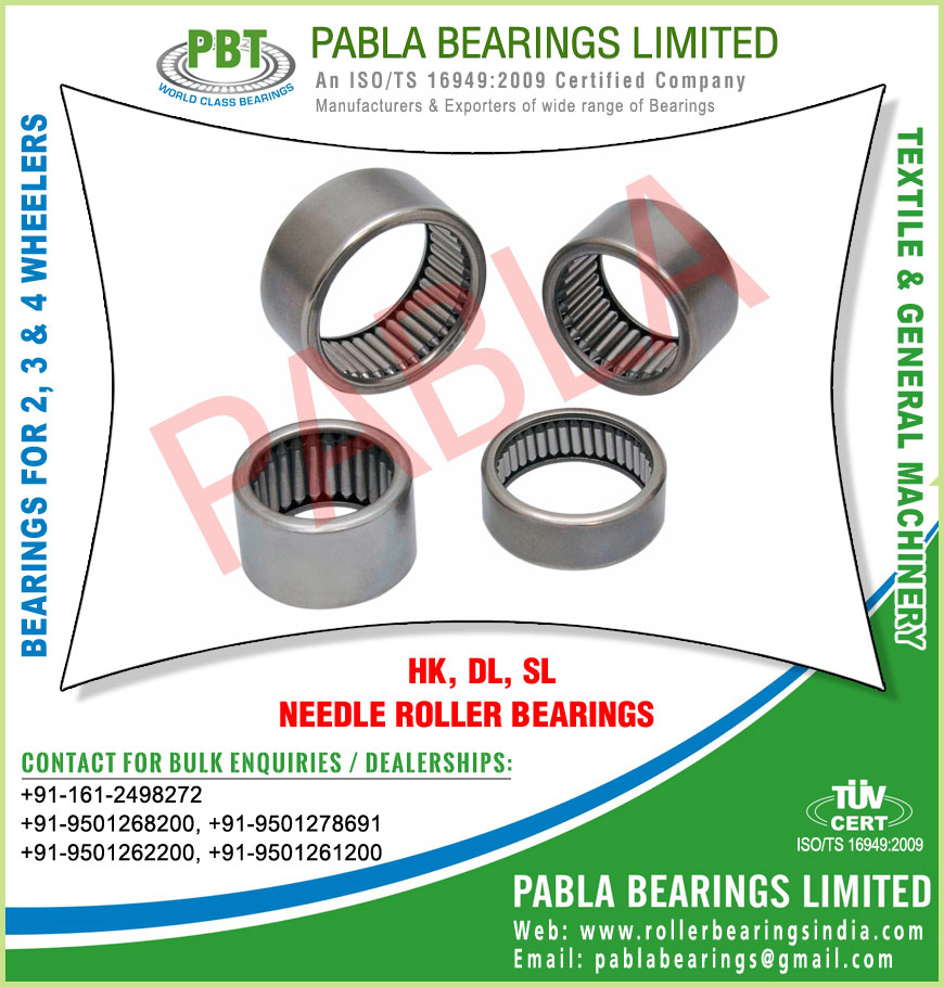automotive needle roller bearings manufacturers exporters sellers supplies in India Punjab Ludhiana